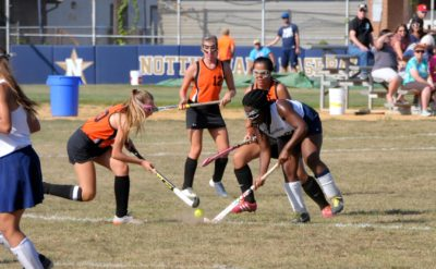 "Gabrielle Brown faces off against Hamilton.  Photo by Wes ""The Media Mogul"" Kirkpatrick."