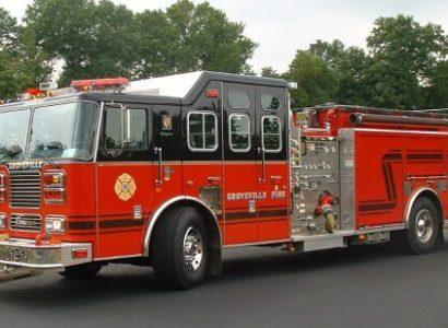 Groveville district 9 fire truck