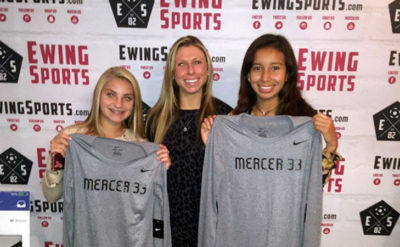 Mercer 33 christie fink with gia girman and Ivonne Vasquez