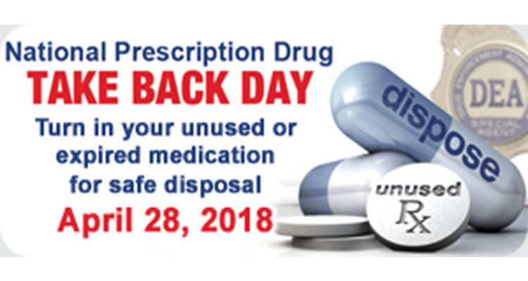 Sheriff Kemler Nation Prescription drug take back day