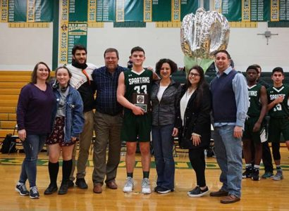 Mario Mazur Steinert 1000 point celebration
