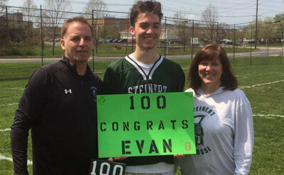 Steinert senior Evan McGovern became the third boys lacrosse player in school history to score 100 goals