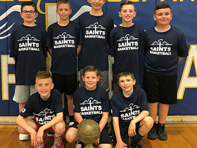 The St. Raphael's 5th-grade basketball team