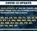 New Jersey Quarantine Travel Advisory List Updated to 36 States